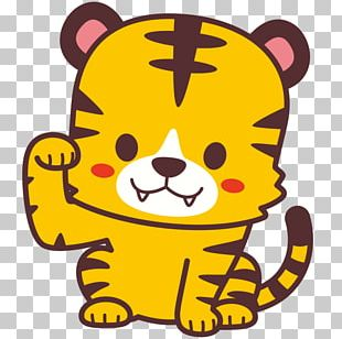 Whiskers Tiger Cat PNG