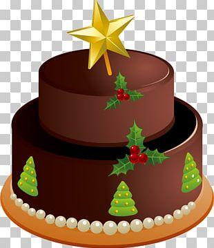 Christmas Cake Black Forest Gateau Chocolate Cake Birthday Cake Wedding Cake PNG