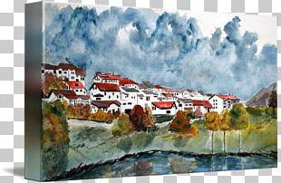 Watercolor Painting Landscape Painting Art PNG