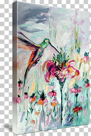 Watercolor Painting Hummingbird Paper Oil Painting PNG