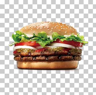 Whopper Hamburger Cheeseburger Burger King Premium Burgers Fast Food PNG