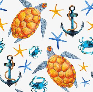 Shading Sea Creatures PNG