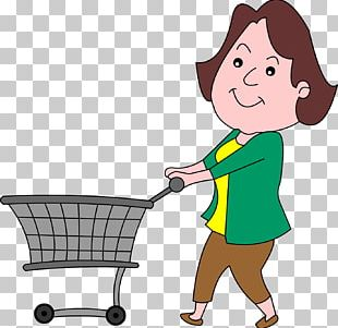 Drawing Shopping Cart Grocery Store PNG