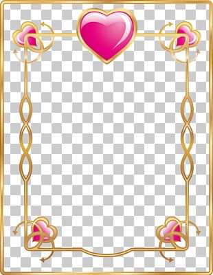 Frame Valentines Day Heart Love PNG
