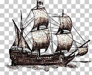 Mayflower II Drawing Ship PNG