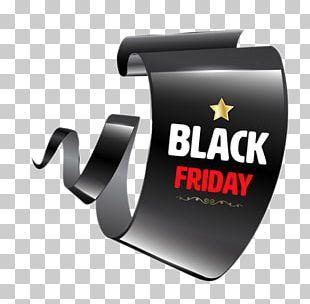 Black Friday Paper Web Banner Sales PNG
