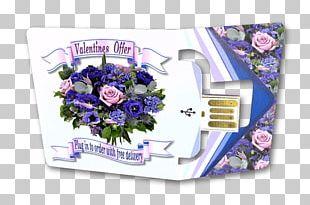 Cut Flowers Purple PNG