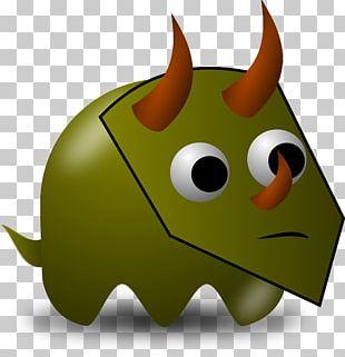 Pac-Man Triceratops Tyrannosaurus Stegosaurus Dinosaur PNG