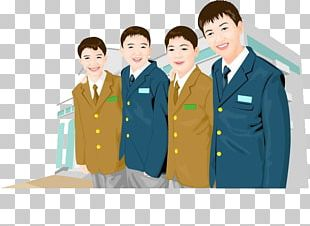 School Uniform Cartoon Painting Illustration PNG