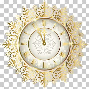 New Year's Day Clock New Year's Eve PNG