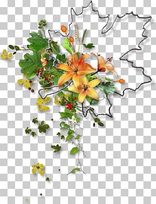 Floral Design Autumn Cut Flowers Leaf PNG