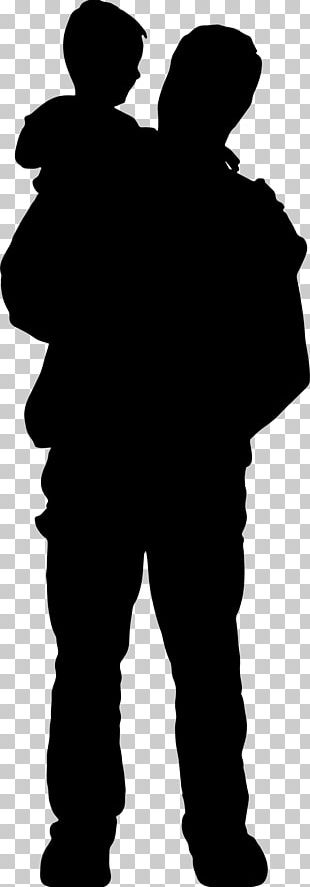 Father Son Child Silhouette PNG