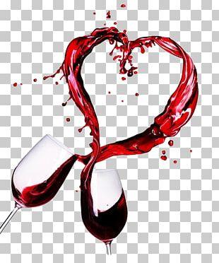 Port Wine Chardonnay Valentines Day Dinner PNG