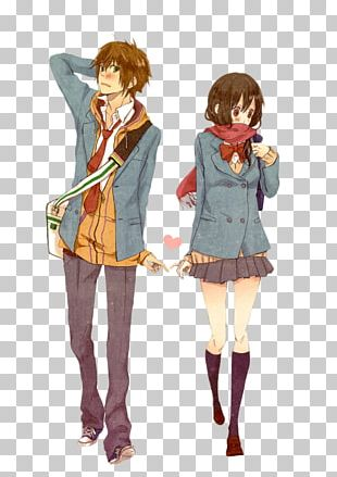 Anime Drawing Couple Manga PNG