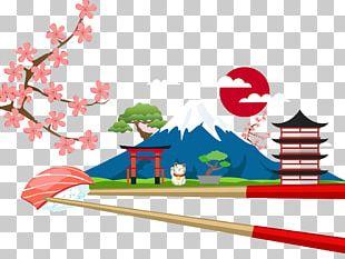 Mount Fuji Illustration PNG