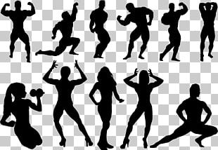 Bodybuilding Silhouette Physical Fitness PNG