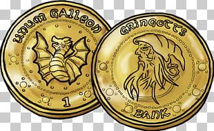 Harry Potter And The Escape From Gringotts Coin Gold PNG