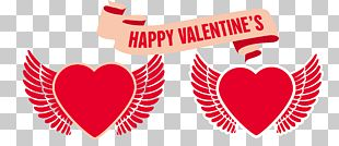 Valentine's Day Heart With Wings PNG