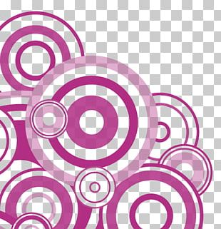 Circle Concentric Objects Purple PNG