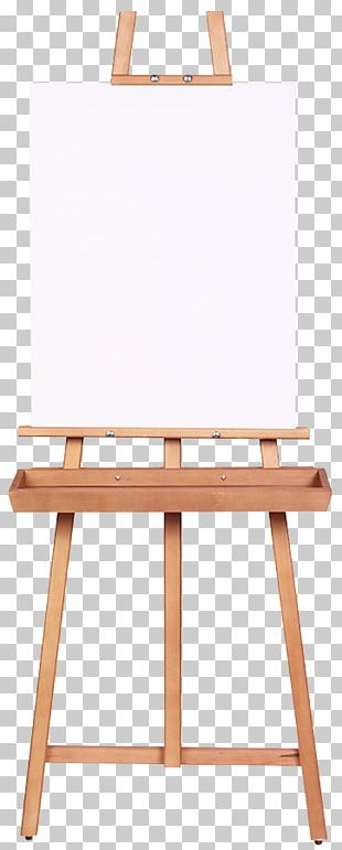 Easel Painting Canvas Artist Wood PNG