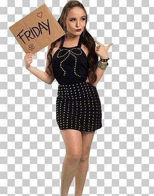 Little Black Dress Polka Dot Supermodel Sleeve PNG