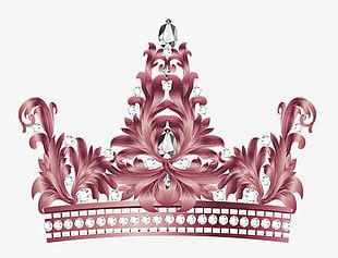 Brown Simple Crown Decoration Pattern PNG