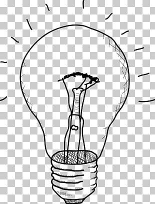Incandescent Light Bulb Drawing Sketch PNG