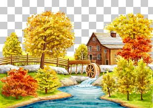 Autumn Wall Decal PNG