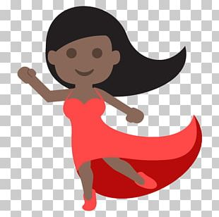 Emoji Dark Skin Dance Human Skin Color Fitzpatrick Scale PNG