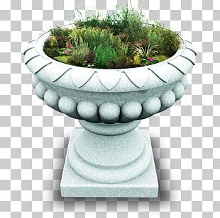 Flowerpot Grass Urn Artifact PNG