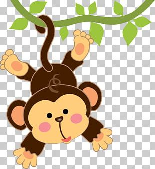 Infant Cartoon Monkey Drawing PNG