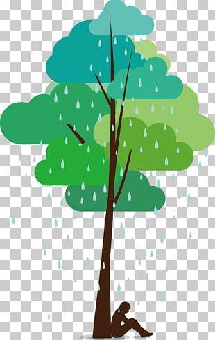Rain Cloud Illustration PNG