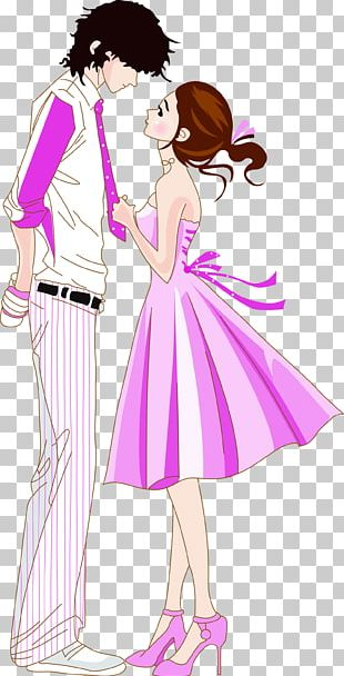 Cartoon Valentines Day Couple PNG