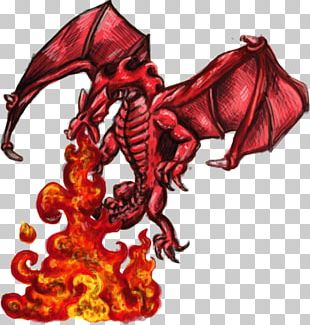 Dragon Fire Breathing Drawing PNG