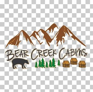 Bear Creek Cabins Accommodation Tourism Logo Crown King PNG