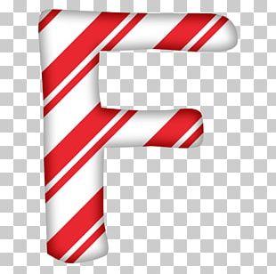 Candy Cane Santa Claus Letter Alphabet Christmas PNG