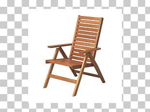 Garden Furniture Folding Chair Wood PNG