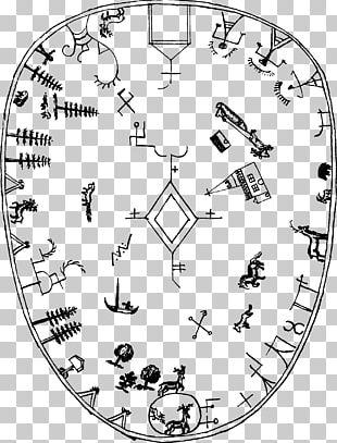 Fragments Of Lappish Mythology Sami Drum Sami People Sami Shamanism PNG