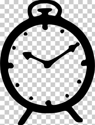 Alarm Clock Black And White Free Content PNG