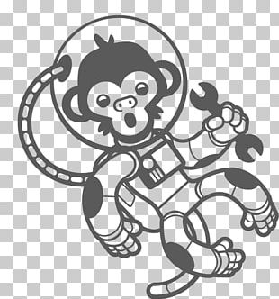 Astronaut Monkeys And Apes In Space Space Suit Outer Space PNG