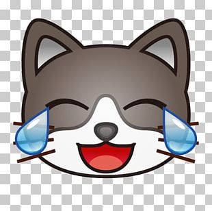 Whiskers Cat Face With Tears Of Joy Emoji Emoticon PNG