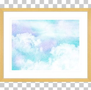 Frames Watercolor Painting Blue PNG