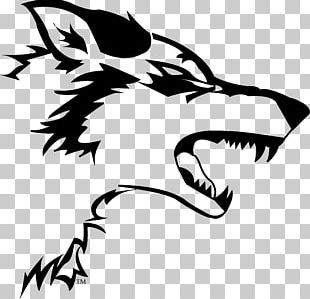 Gray Wolf Logo Decal Sticker PNG