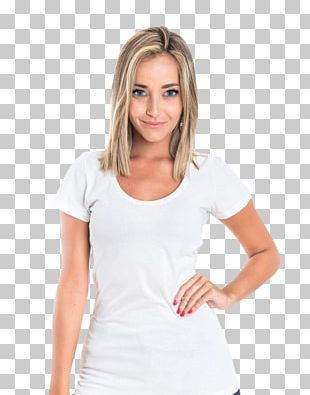 T-shirt White Clothing Model PNG