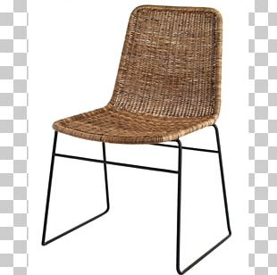 Rattan Chair Wicker Dining Room Table PNG