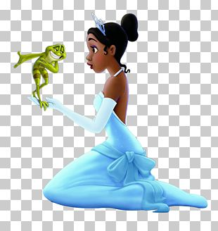 The Princess And The Frog Figurine Turquoise PNG