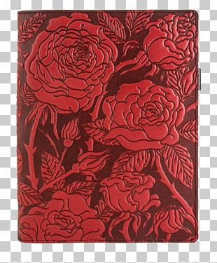 Garden Roses Exercise Book Leather Book Cover PNG