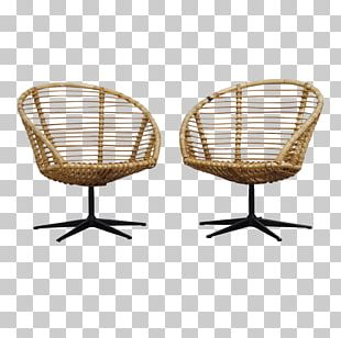 Swivel Chair Table Wicker Furniture PNG