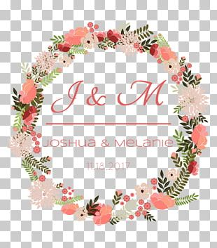Wedding Invitation Wreath Flower PNG