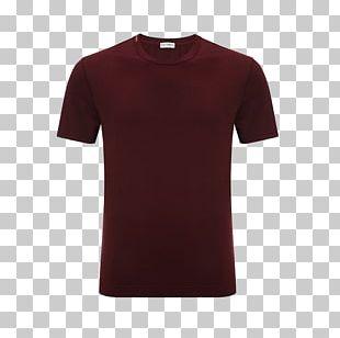 T-shirt Shoulder Sleeve Maroon PNG